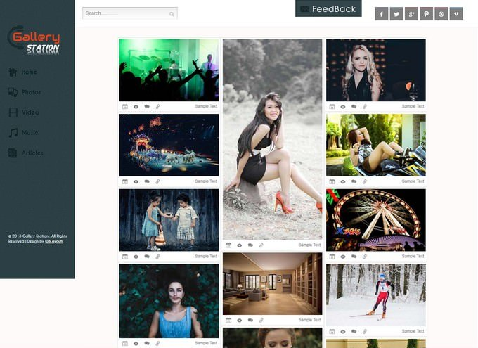 Gallery Station Photo Website Template