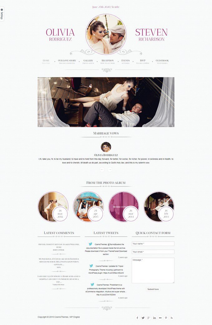 Game Over Responsive Wedding Event Planning