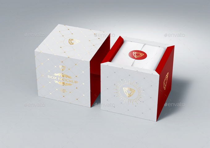 Gift Box Mock-Up PSD