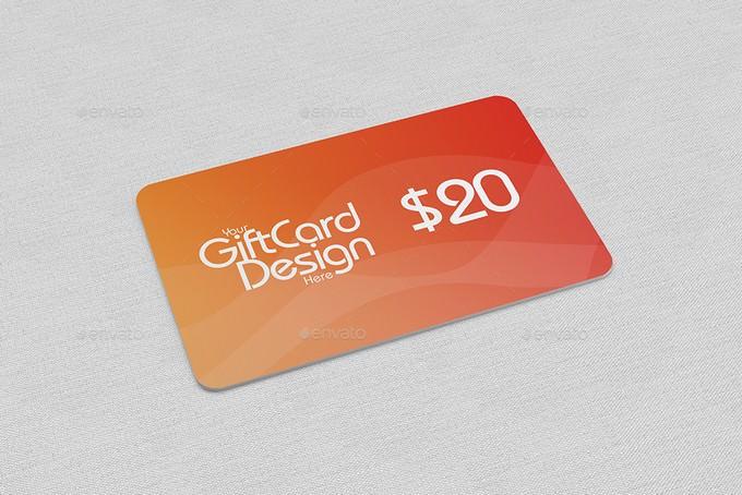 Gift Card Mock-Ups PSD