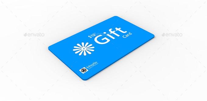 Gift Card Mockup V1 PSD