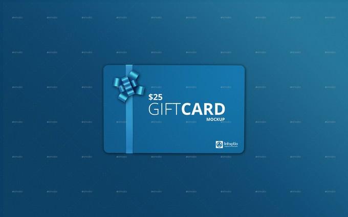 Gift Card Mockup V2 PSD