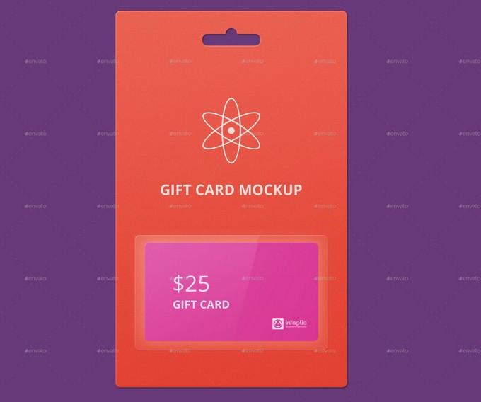 Gift Card Mockup v3 PSD