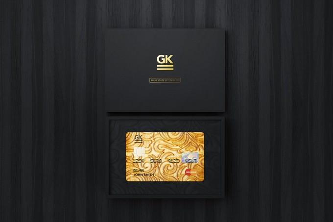 Gift Card Mockup PSD