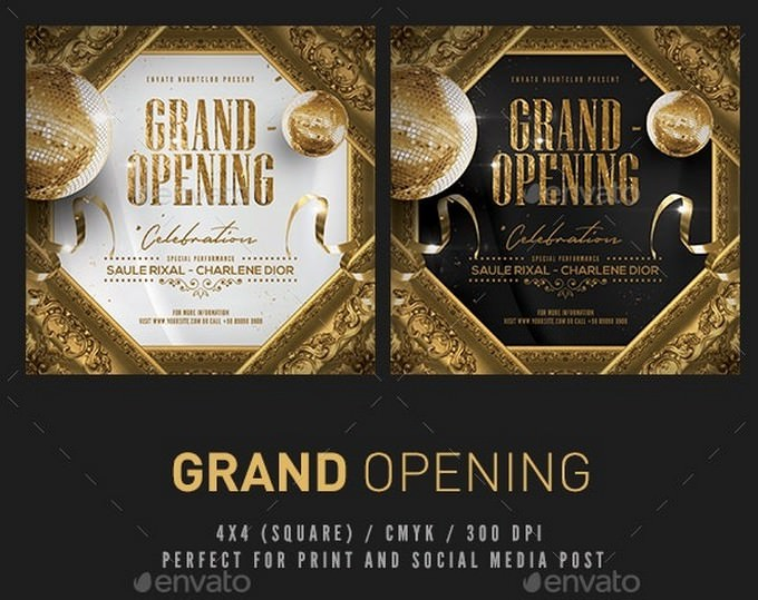 Grand Opening Promotional Flyer PSD