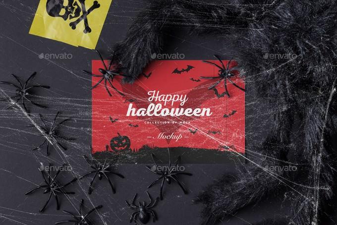 Halloween Card Mock-up PSD