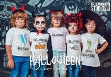 Halloween Kids T-Shirt Mock-Up
