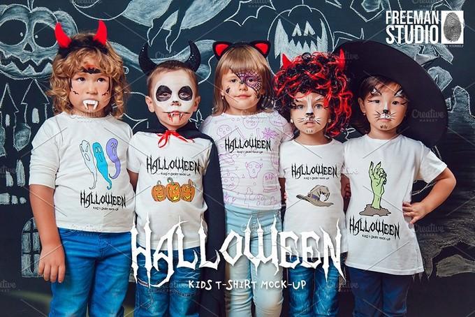Halloween Kids T-Shirt Mock-Up