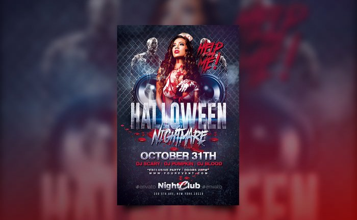 Halloween Nightmare Party Flyer