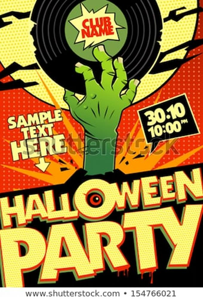 Halloween Party Design Flyer
