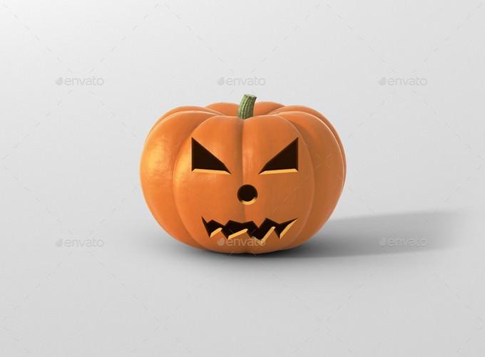 Halloween Pumpkin Mockup