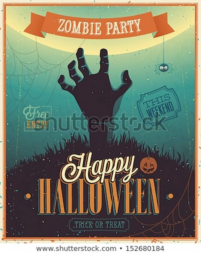 Halloween Zombie Party Poster Flyer
