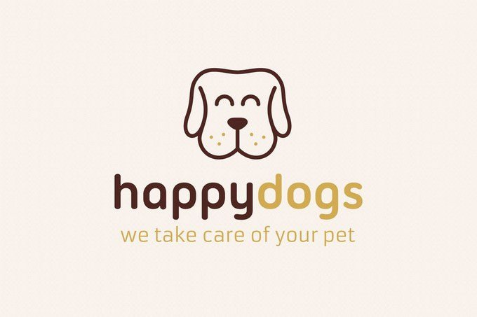 Happy Dog Logo Template