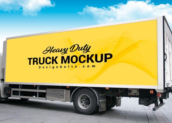 Heavy Duty Truck Branding Mockup