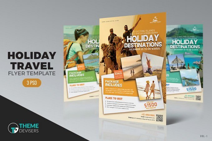 Holiday Travel Agency PSD