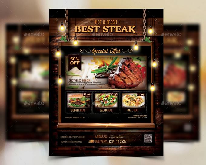 Hot & Fresh Restaurant Flyer