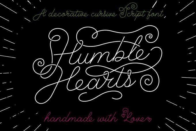 Humble Hearts Hipsta Font