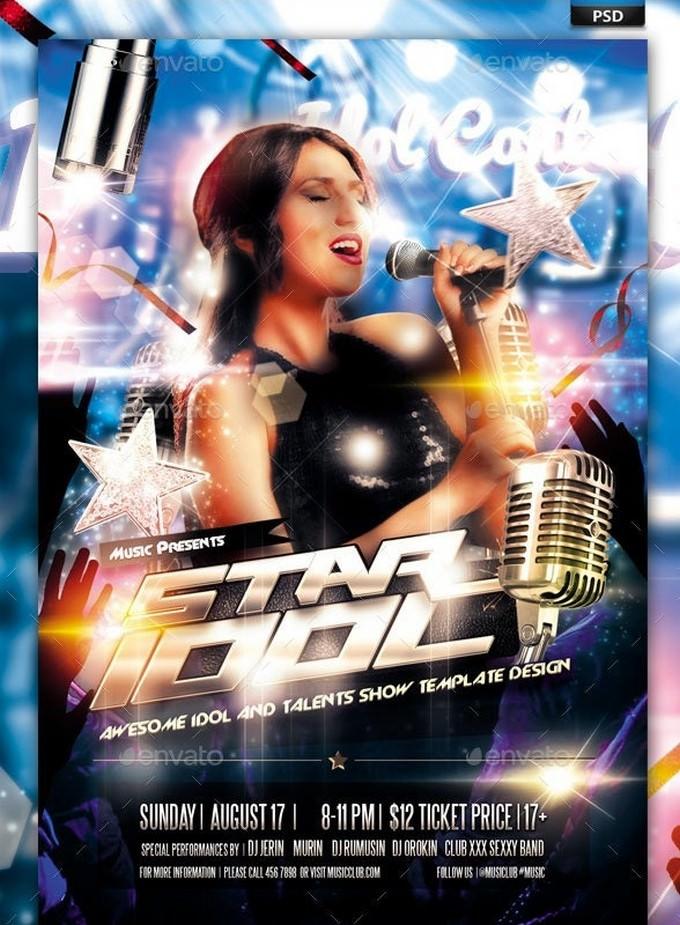 Idol Sing Talent Show Flyer