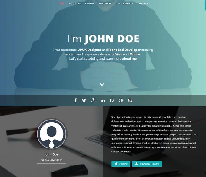 Resume & Portfolio WordPress Theme