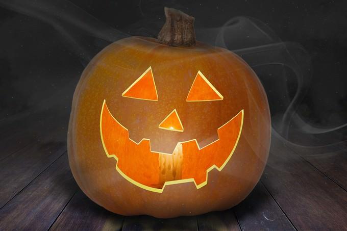 Jack-O'-Lantern PSD Mockup for Halloween