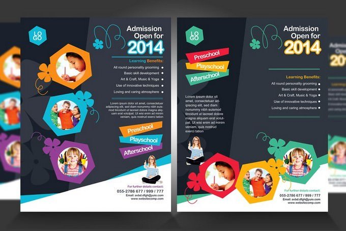 School Admission Promotion Flyers