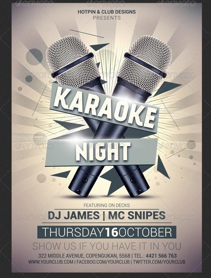 Karaoke Night Flyer Template