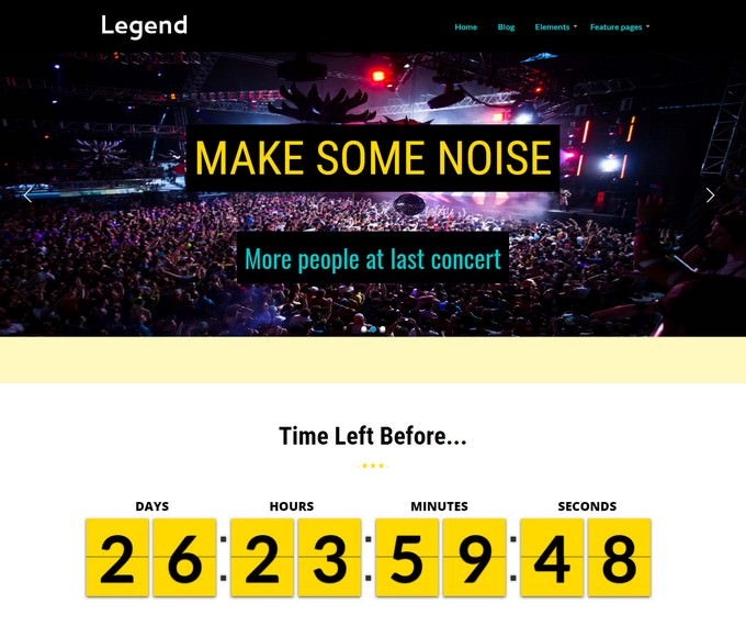 Legend Event WordPress Theme