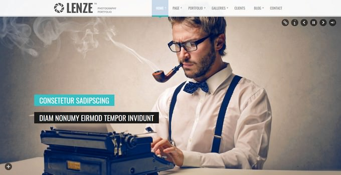 Lenze Photography HTML Template