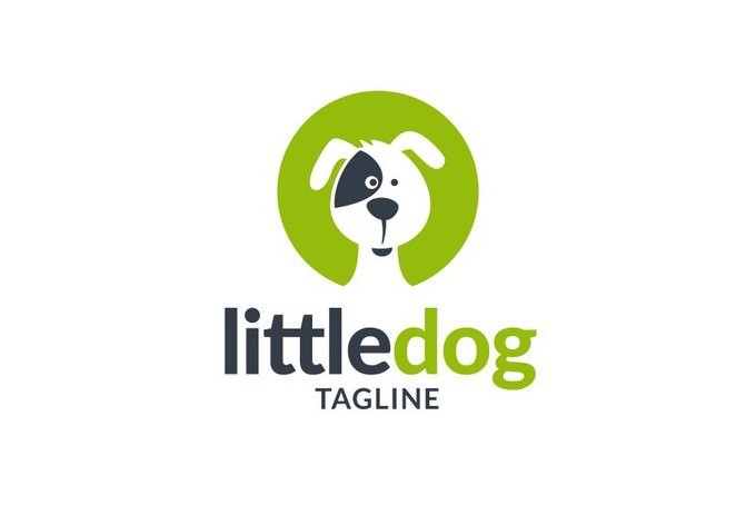 Little Dog Logo Template