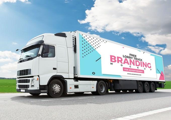 Lorry Truck Branding PSD