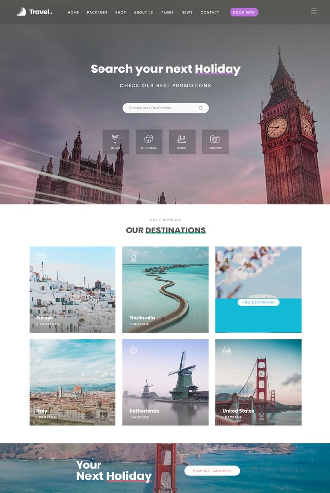 Love Travel Agency PHP WordPress Theme