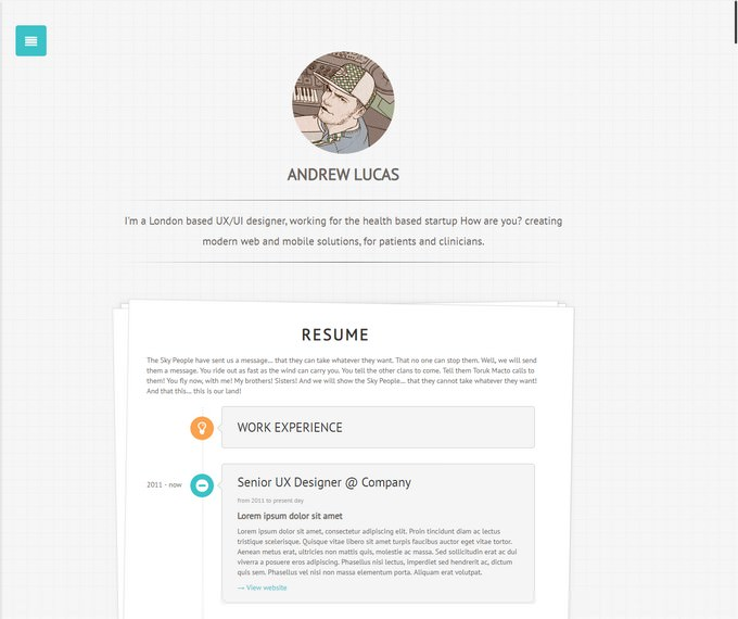 Personal Minimalist WordPress Blog Theme