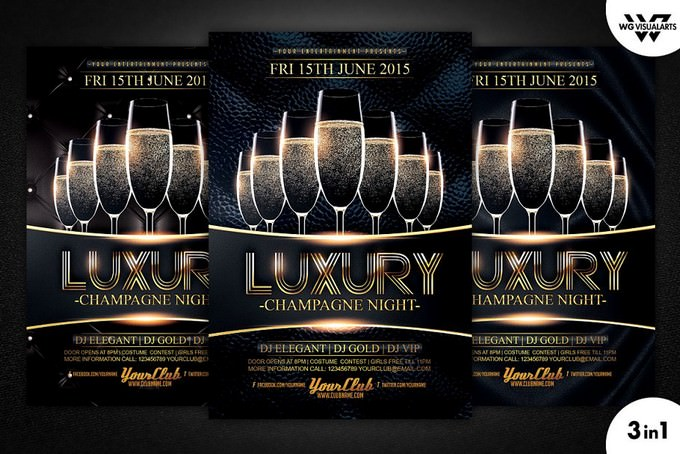 Luxury Champagne Flyer