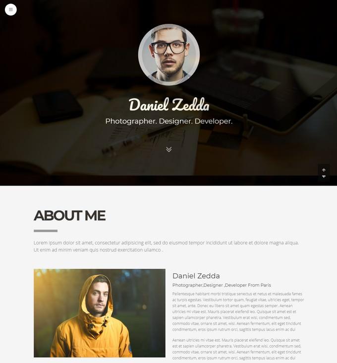 Multipurpose Resume & One Page Portfolio