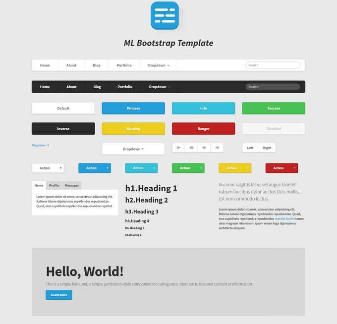 ML Strap Twitter Bootstrap Theme