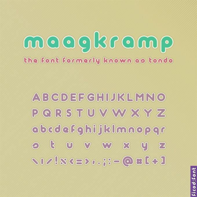 Maagkramp Font