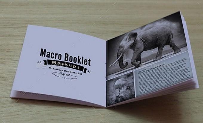 Macro Booklet Mockup