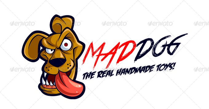 Mad Dog Logo Template