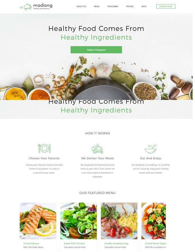 Healthy Food Delivery HTML5 Template
