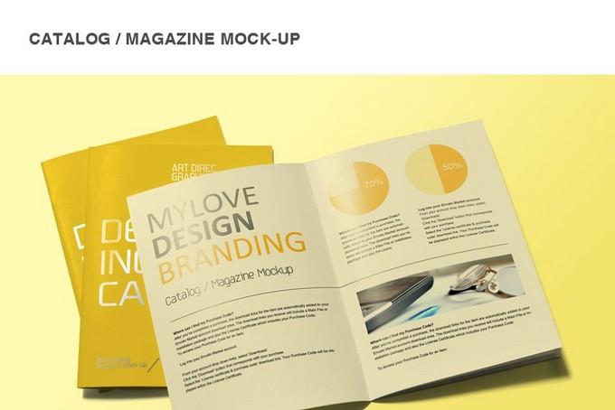 Magazine Booklet Mock-Up PSD