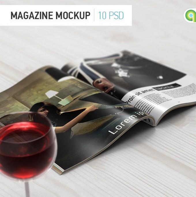 Magazine Booklet Mockup PSD
