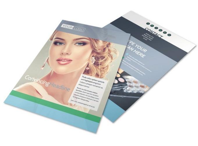 Makeup & Cosmetics Flyer