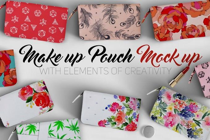 Makeup Pouch Mockup PSD