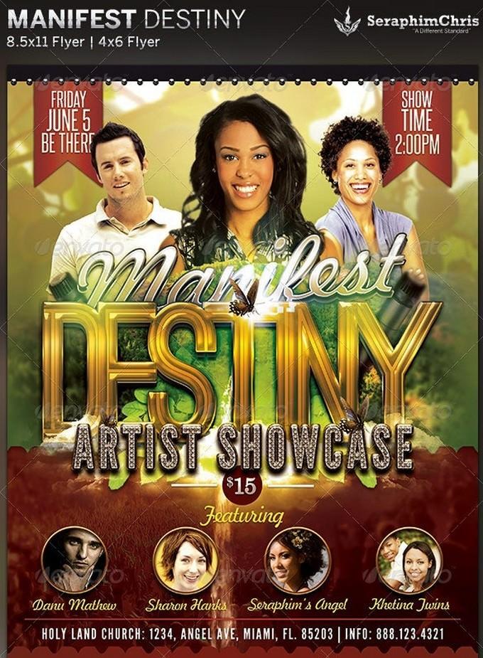Manifest Destiny Church Concert Flyer