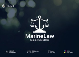 Marine Law Logo Template