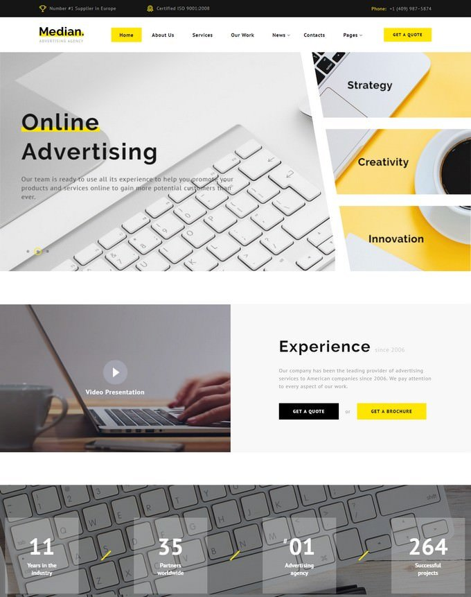 Advertising Agency HTML5 Website Template