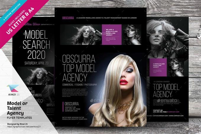 Model or Talent Agency Flyers