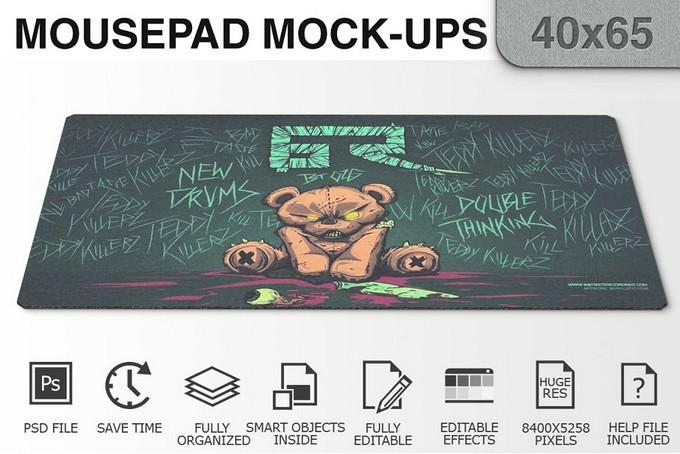 Mousepad Mockups PSD