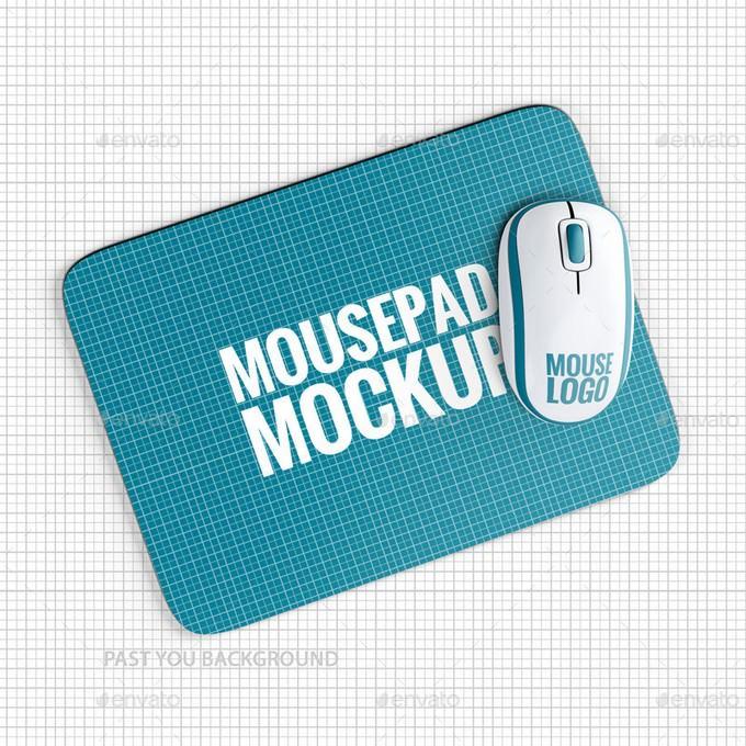 Mousepad Mouse Mock-up