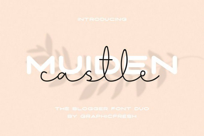 Muiden Castle The Blogger Font Duo